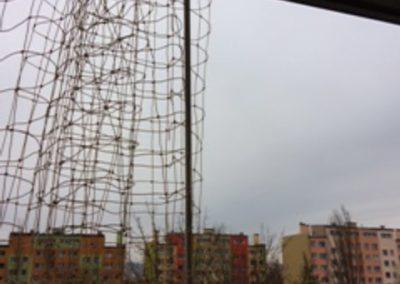 siatka z możliwością rozsuwania balkon Grodzka Wałbrzych