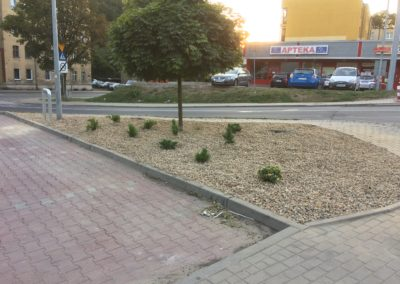 Biedronka Wałbrzych 11-go listopada  - położenie agrowłókniny + kamień