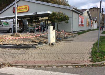 Montaż obrzezy betonowych Wałbrzych Biedronka 11-go Listopada